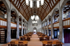 Main reading room in the Law Library, Biolchini Hall...Photo by Matt Cashore/University of Notre Dame